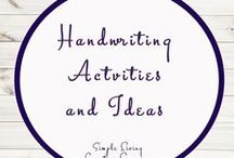 Handwriting Activities and Ideas / Study Ideas | Activities | Homeschooling | Educational | Handwriting  | Printables | Learning | Unit Studies | Crafts