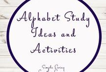 Alphabet Study Ideas and Activities / Study Ideas | Activities | Homeschooling | Educational | Alphabet  | Printables | Learning | Unit Studies | Crafts