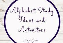 Alphabet Study Ideas and Activities / Study Ideas   Activities   Homeschooling   Educational   Alphabet    Printables   Learning   Unit Studies   Crafts