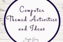 Computer Themed Activities and Ideas / Study Ideas | Activities | Homeschooling | Educational | Typing  | Printables | Learning | Unit Studies | Crafts | Computers