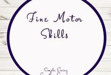 Fine Motor Skills for Kids / Ideas | Activities | Homeschooling | Educational | Fine Motor Skills  | Printables | Learning | Unit Studies | Crafts