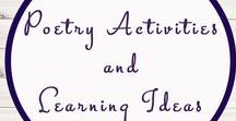 Poetry Activities and Learning Ideas / Study Ideas | Activities | Homeschooling | Educational | Poetry  | Printables | Learning | Unit Studies | Crafts | Literacy | Language Arts