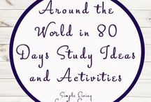 Around the World in 80 Days Study Ideas and Activities / Study Ideas   Activities   Homeschooling   Educational   Around the World in 80 Days    Printables   Learning   Unit Studies   Crafts