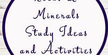 Rocks and Minerals Activities and Ideas / Study Ideas | Activities | Homeschooling | Educational | Rocks  | Printables | Learning | Unit Studies | Crafts | Minerals | Ground