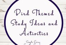 Bird Themed Activities and Ideas / Study Ideas | Activities | Homeschooling | Educational | Birds  | Printables | Learning | Unit Studies | Crafts | Flying Creatures