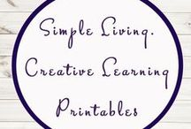 Simple Living. Creative Learning Printables / Study Ideas | Activities | Homeschooling | Educational | A Moment In Our World | Printables | Learning | Unit Studies | Crafts