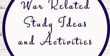 War Related Activities and Ideas / War   Homeschool   Activities   Ideas   Unit Studies   World War I   World War II   Boer War  