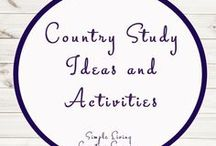 Country Study Ideas and Activities / Study Ideas | Activities | Homeschooling | Educational | Printables | Learning | Unit Studies | Crafts | South America | Brazil | China | Canada | Switzerland | Sweden