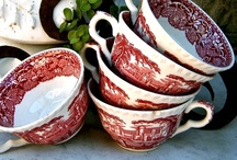 Red & White / by Vintage Belle Broken China Jewelry
