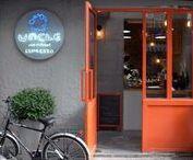 Cafeterías por el Mundo / Cafeterías del mundo, para pasear un ratito soñando que estamos de viaje