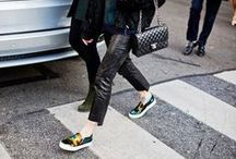 """Street Chic / Spotted: Shoe Lovers rockin' that cool street style! They break the rules and forget what's """"right""""—because having your own look has NEVER been cooler."""