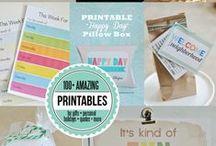 · P R I N T A B L E S · / Here you will find printables of all sorts. So enjoy! #printables
