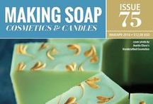 Making Soap Mag Covers / Published Covers of Making Soap, Cosmetics & Candles Magazine / by Making Soap Cosmetics & Candles Magazine