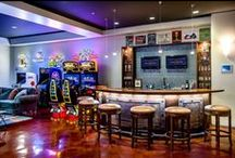 Ultimate Man Caves / Need some man cave ideas to inspire you? A man cave is not just a garage with bar stools where you go to relax, it's your very own sanctuary complete with all your favorite things. Try not to drool too much while you're dreaming about your ultimate man cave.