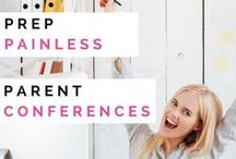 Parent Conferences / Ideas, resources, freebies, and pictures to help elementary teachers prepare for and carry out meaningful parent teacher conferences