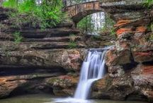 Hocking Hills Waterfalls / Hocking Hills is home to many beautiful waterfalls. Check them out for yourself!