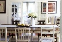American Home / My patriotism inspires modern bold colors with a background of neutral classics.
