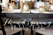Thanksgiving / Thanksgiving tablescapes & home decor inspiration