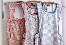 Aprons: My Uniform / I got tired of ruining my clothes, so I started wearing aprons. I love them, especially the vintage ones. I feel like I'm putting on my uniform and ready to start tackling my day.