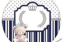 Kit ursinho Príncipe Azul Marinho