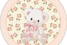 Kit ursinha floral rosa