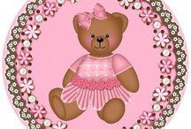 Kit osita vestido rosa