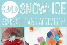 Winter Activities / A fun mix of winter activities for kids including everything from outdoor snow play ideas and indoor boredom busters.