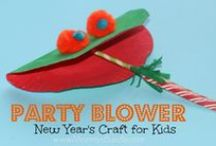 New Year's: Kids & Family / Kid's arts and craft ideas for ringing in the New Year.