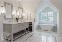 Serene Bathrooms | photography by ninapomeroy.vom / Bathrooms, Master Baths, Soaking Tubs, Marble Bath, Showers, Tiles, Sinks, Showerheads / by Nina Pomeroy Photography