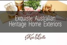 HOME: Exquisite Australian Heritage Home Exteriors / The Creme De La Creme of Australian Heritage Homes, a bygone era...