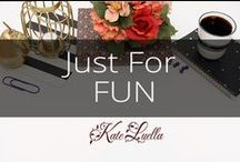 """KATE: Just for FUN / These pins are """"Just for Fun"""""""