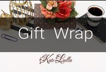 INSPIRE: Gift Wrap - WOW! / I love gift wrap the most!