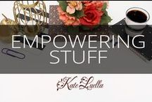 KATE: Empowering stuff!! / Empowering - motivating - inspiring - idealistic - opportunity - need I say more!!  ENJOY!
