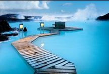 Water at the Spa / Infinity pools, rain showers, poolside waterfalls. Spas are all about the water!