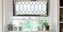 """Creative Window Treatments / Beautiful windows often stand alone perfectly, but the room will not feel dressed until the windows have been thoughtfully adorned.  Discover """"how-to's"""" for creating beautiful window treatments along with fabulous tips."""