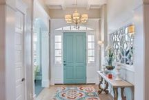 Entries & Doors / Let's Make an Entrance that will Welcome.  Colorful front door ideas, inspiring gates, welcoming porches, and garden inspiration for front walk ways, too.