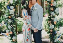 The Wedding / Wedding inspiration for clients and friends of Molly Jo Collection! Favorite feels as of late: loose floral bouquets, wedding gowns that carry that timeless/bohemian vibe, flowers in the hair, gold everything, blooming arches, and all the emotion that comes with.