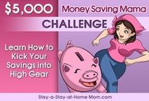 $5,000 Money Saving Mama Challenge / Frugal Living Websites are all around online, but here you will find the $5,000 Money Saving Mama Challenge! Jump in and follow along week-by-week, with a goal of savings $5,000 (or more) this year.    Plus, this is the board where all the new piggy banks - that match that week's theme - are showcased.    Join the challenge here: http://www.stay-a-stay-at-home-mom.com/frugal-living-websites.html