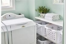 Laundry Room Ideas / The never ending task in every home is laundry.  Be inspired to create an extraordinary space for the daily or weekly laundry routine.  Creative laundry room ideas including, art work, decor, storage and drying rack ideas.