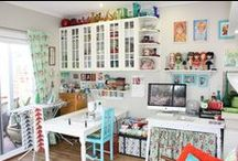 Craft/Sewing Room / Craft & Sewing room ideas & inspiration. / by Virginia Hale