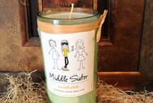 Wine Crafts / Our fans do some amazing things with their leftover Middle Sister Wine bottles, labels, and more. Do you have a brilliant Middle Sister craft to share? Email your pic to info@middlesisterwines.com and you could see it here!