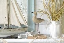 Nautical & Coastal Decor / Whether we visit or live near the ocean, one of the Great Lakes, or enjoy a spot on the river or inland lake, we can enjoy extraordinary coastal decor.  It's fresh, carefree, and who doesn't love the multitude of blue and green and sandy colors.  I'm dreaming of sandy beaches and gentle waves and maybe a lazy boat ride.