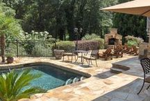 Pools / Fire Pitt / Outdoor spaces / by Tina Alonzo-Long