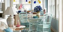Porches & Outdoor Spaces / When the weather's warm, it's always wonderful to gather in the coolness of the porch with friends.  Porch and patio entertaining are outdoor living at its finest.  Decorating ideas for interior porches, front porches, side porches, back door porches, patios, and outdoor spaces