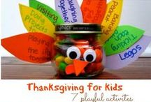 Thanksgiving / Thanksgiving activities and ideas for kids and parents! / by Jillian Riley @ A Mom With A Lesson Plan