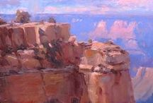 "Grand Canyon Paintings - Available via Kolb Studio at Grand Canyon / If you're looking for paintings of the Grand Canyon, check out the ones I have at Kolb Studio at Grand Canyon National Park!  In addition to a few that remain from the September ""Celebration of Art"" Grand Canyon Plein Air Festival, I have sent up several new ones. Sizes range from 6""x8"" on up to 12""x24"", all framed, prices range $200 and up.  If you're interested in any of the paintings, please contact Robb Seftar, Gallery Manager, at 928-638-2771 or rseftar@grandcanyon.org.  Will ship! / by Michael Chesley Johnson Studios"