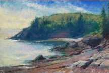 Paintings of Downeast Maine and Canadian Maritimes / Landscape paintings in oil and pastel by MIchael Chesley Johnson.  Paintings feature landscapes and seascapes from Downeast Maine and the Canadian Maritimes. ALL PAINTINGS FOR SALE.