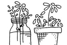 Stitch ✄ Flowers | Garden / Flower and Garden Patterns for Embroidery and Applique