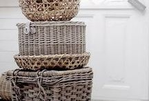I ♥ Baskets / My obsession with Baskets and Rattan