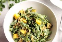 Salads of all varieties / Lettuce, kale and arugula Mixing in fruits and grains Full-all-day salads